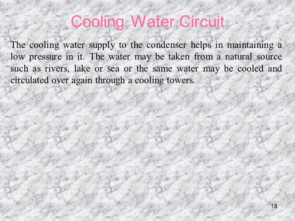 Cooling Water Circuit