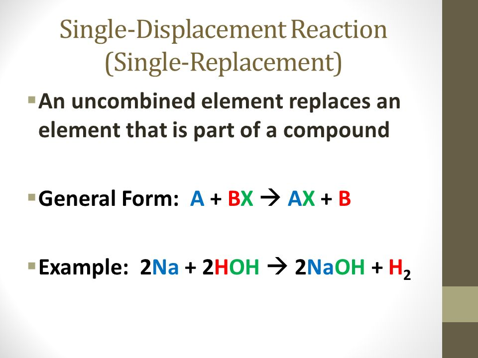 Types of Chemical Reactions - ppt video online download