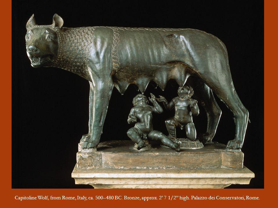Capitoline Wolf, from Rome, Italy, ca. 500–480 BC. Bronze, approx