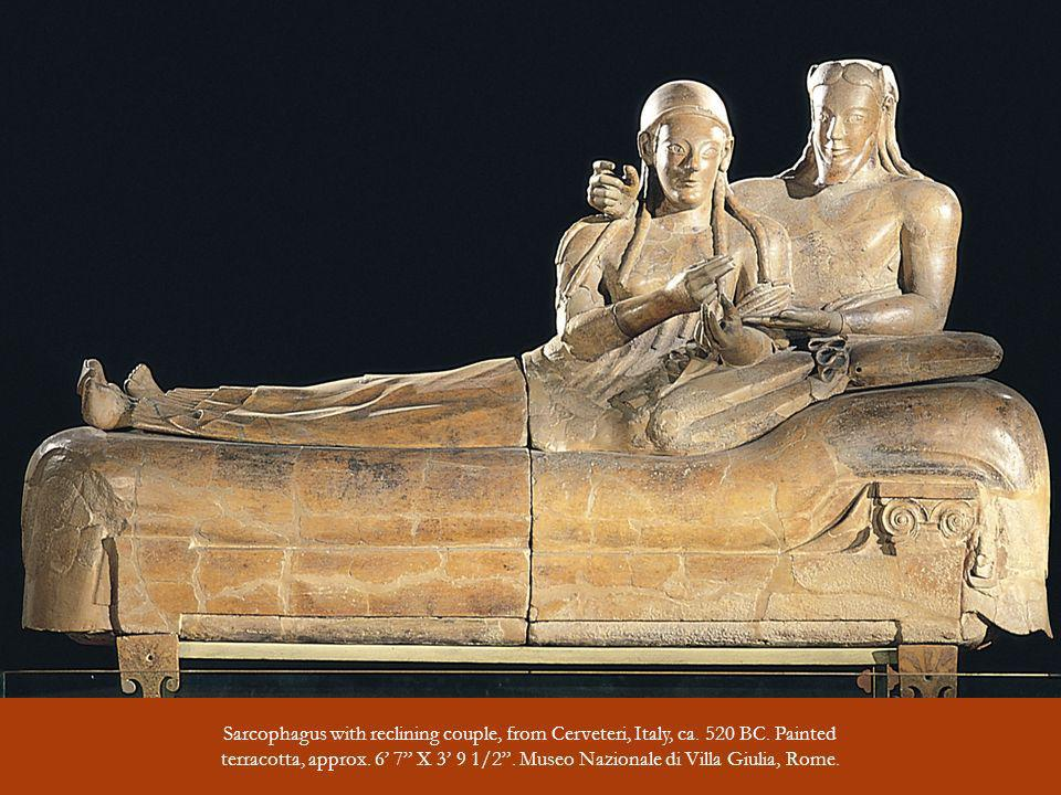 Sarcophagus with reclining couple, from Cerveteri, Italy, ca. 520 BC