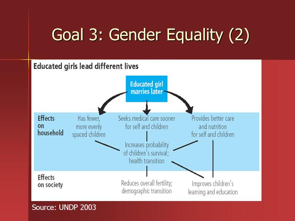 Goal 3: Gender Equality (2)