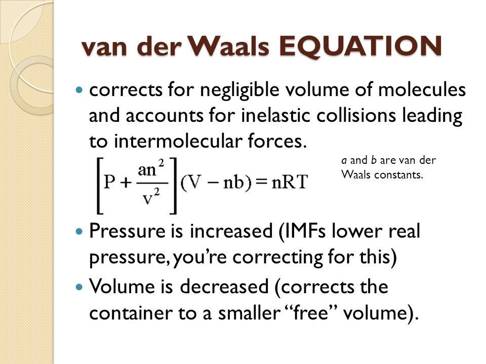 van der waals equation pdf