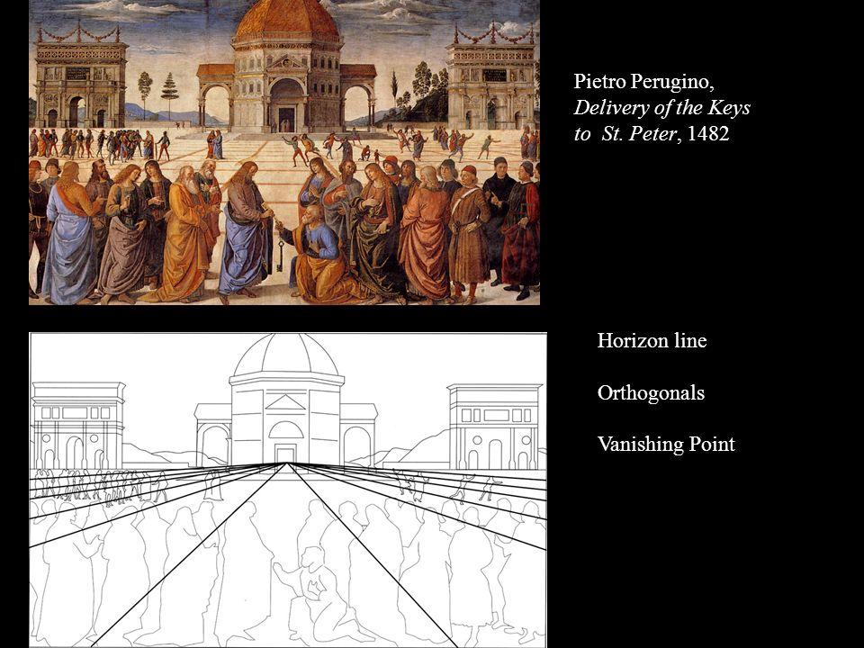 Pietro Perugino, Delivery of the Keys to St. Peter, 1482 Horizon line Orthogonals Vanishing Point