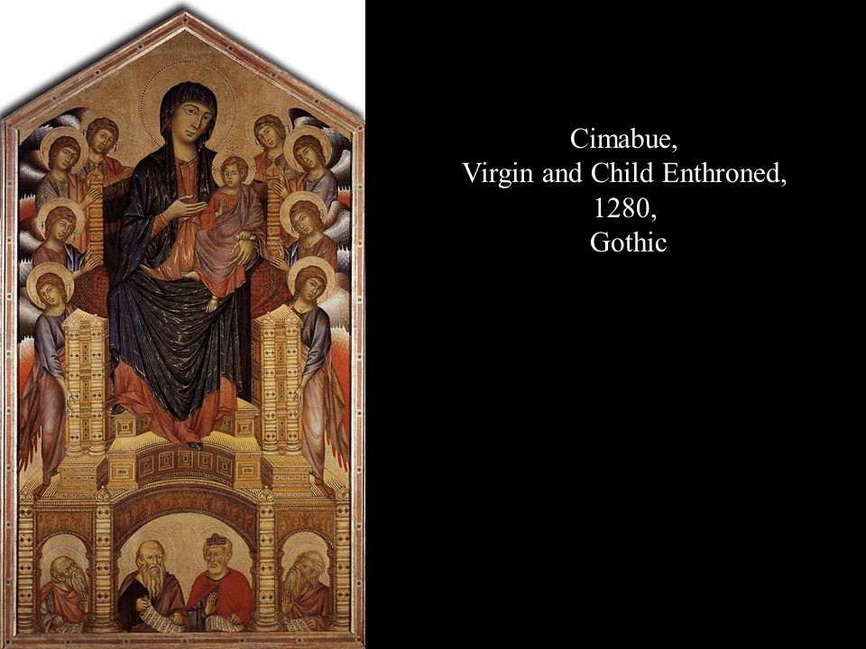 Virgin and Child Enthroned,