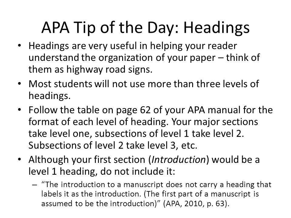 apa tip of the day  quotes
