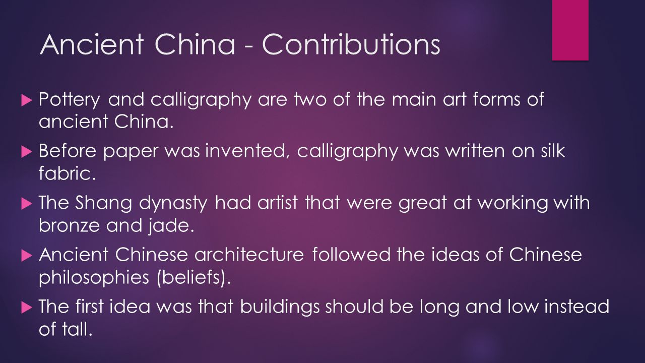 ancient chinas many contribution Lesson plan #2561 contributions of ancient egypt and china.