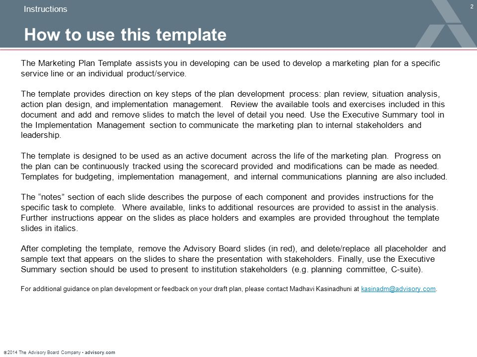 Marketing Plan Template - Ppt Download