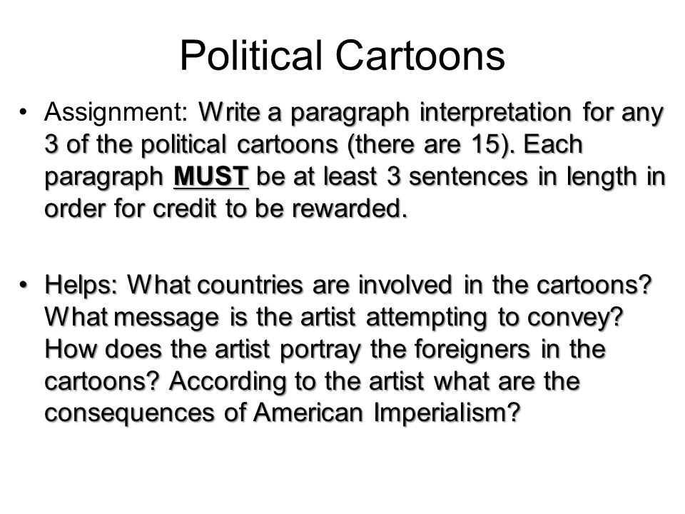 interpretation of political cartoon essay Are you looking for a similar paper or any other quality academic essay then look no further our research paper writing service is what you require.