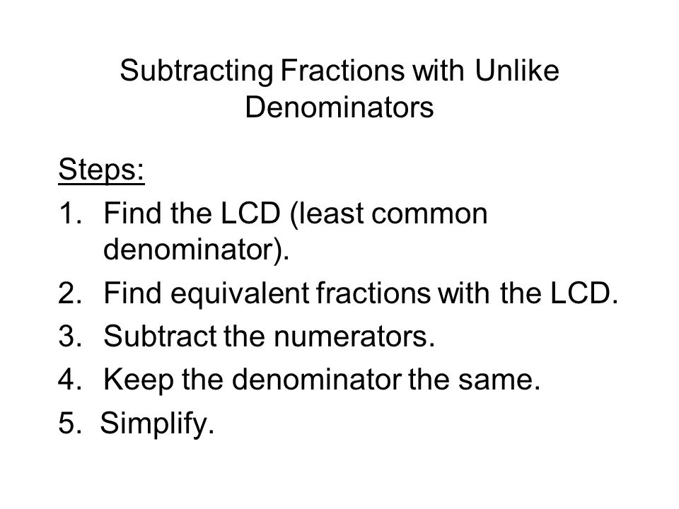 how to add mixed fractions with unlike denominators