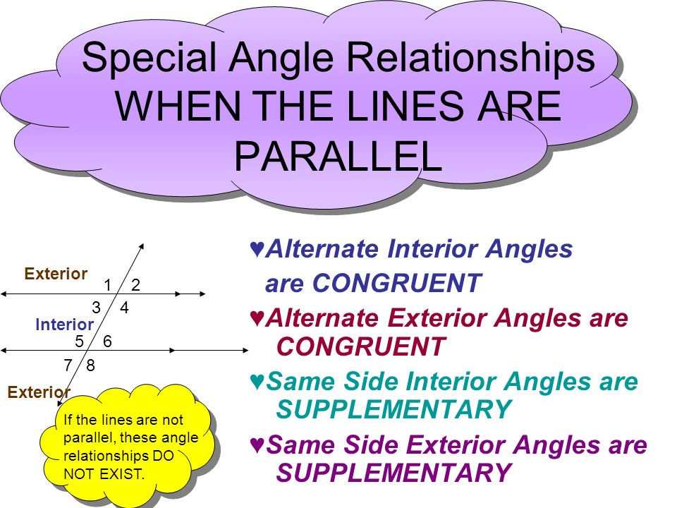 3 3 parallel lines transversals mr miller geometry - Same side exterior angles are congruent ...