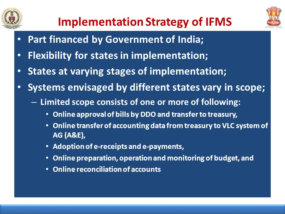 Implementation Strategy of IFMS