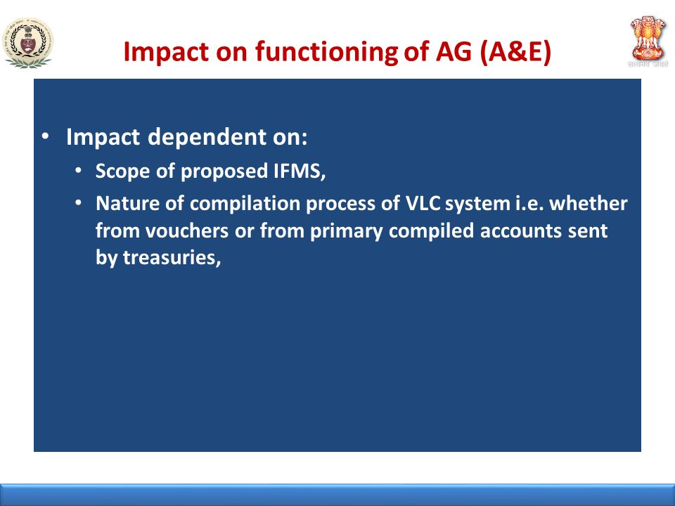 Impact on functioning of AG (A&E)