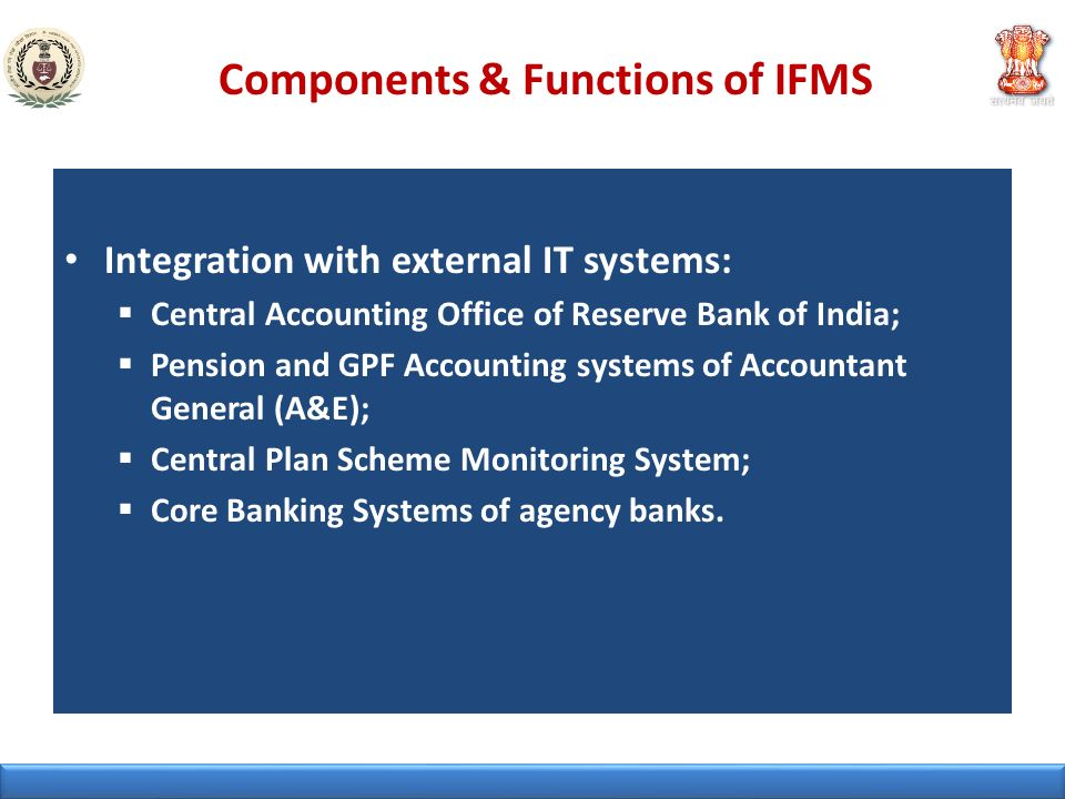 Components & Functions of IFMS