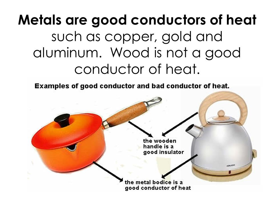 Examples Of Conductors Of Heat : Transfer of heat part lesson ppt video online download