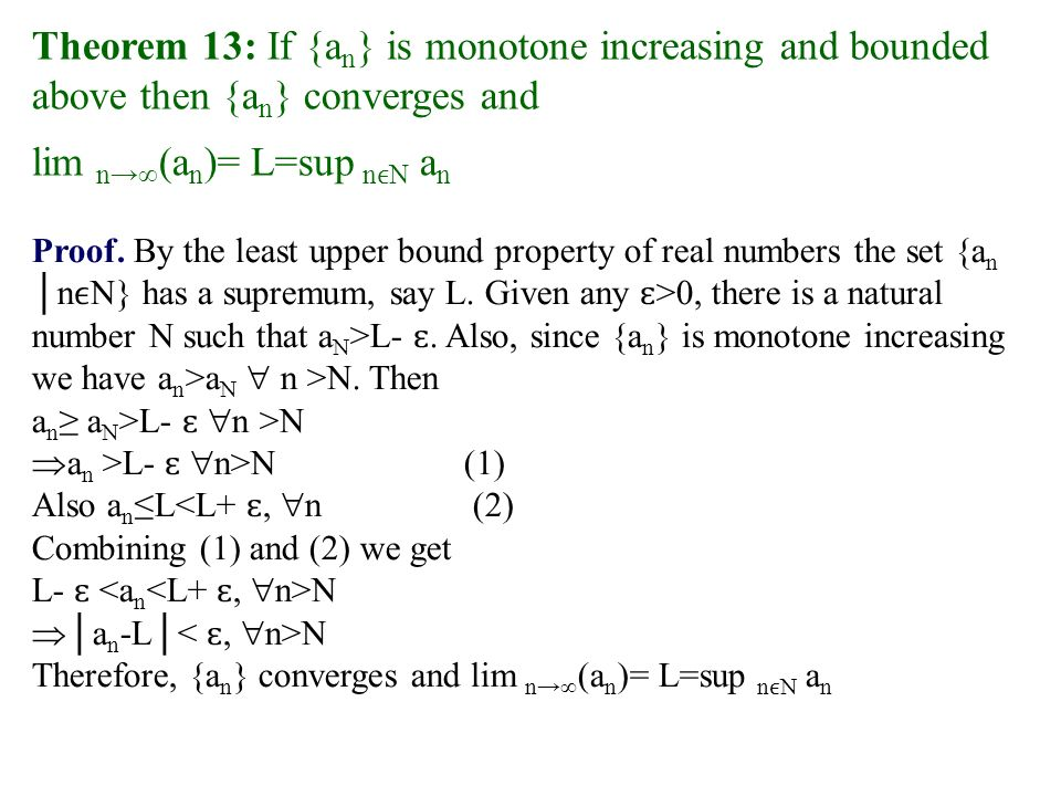 Least Upper Bound Property Of Real Numbers
