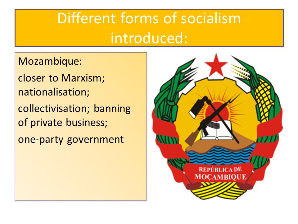 Different forms of socialism introduced: