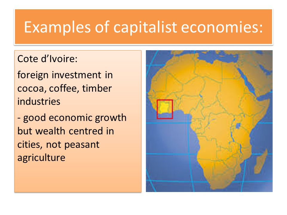 Examples of capitalist economies: