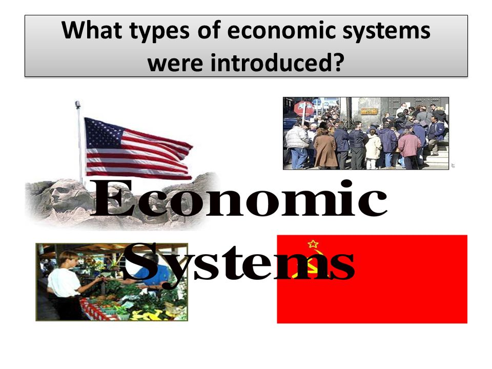 What types of economic systems were introduced