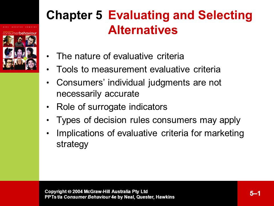 the criteria for evaluating strategic alternative marketing essay Section c  customer profiles marketing mix and usp2 cuegis essay – answer the learning outcome social media marketing and social networking) 22 two-three aspects to ethics which may influence marketing strategies.