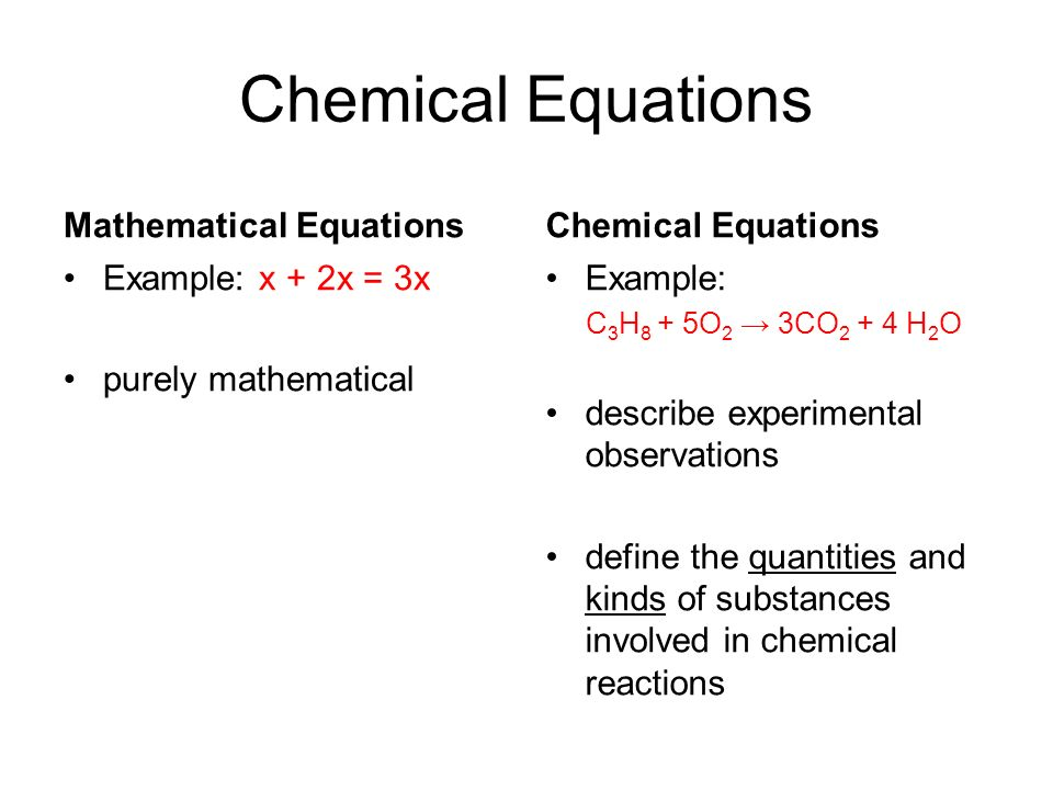 how to find x in a chemical equation
