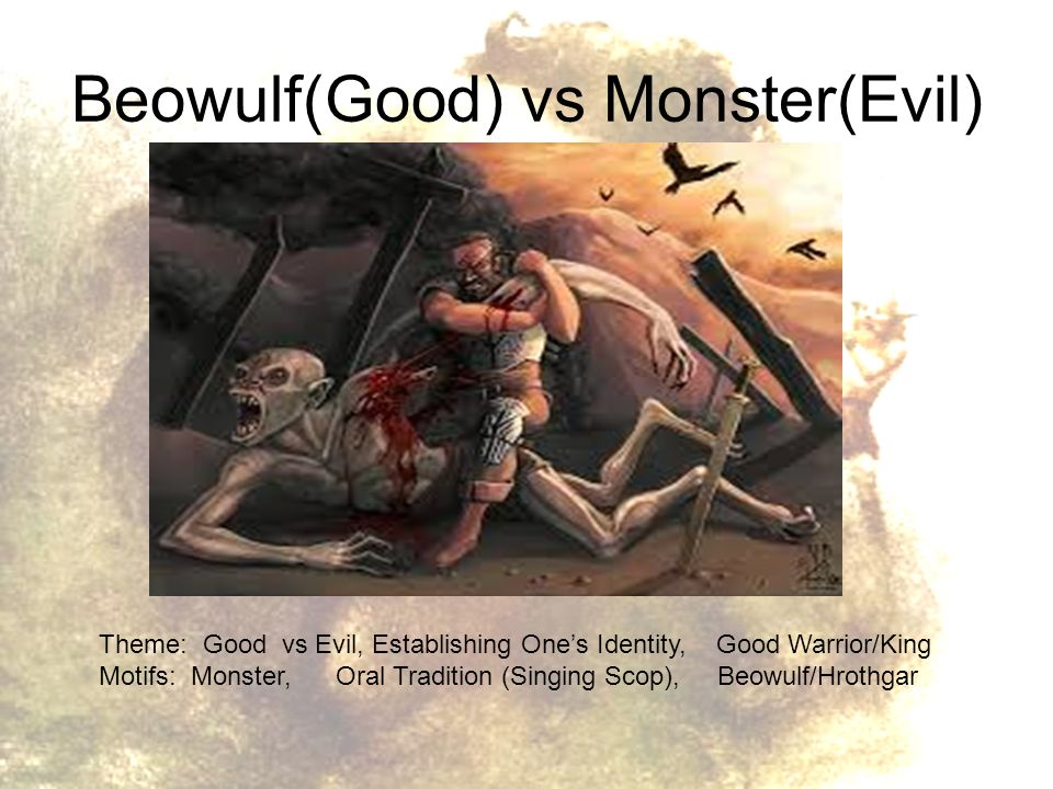 dichotomy of good and evil in beowulf Two opposite parts of one whole a dichotomy is an idea or classification split in two when you point out a dichotomy, you draw a clear  dilates upon the theme of good versus evil, where beowulf is a good character, while three monsters are evil characters beowulf is larger than life personality, who.