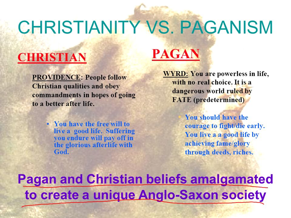 christian vs paganism Wicca vs christianity  btw- there is a difference between wicca and paganism, so try not to get the two confused oct 26, 2003 oct 26, 2003 #5 volos well-known .