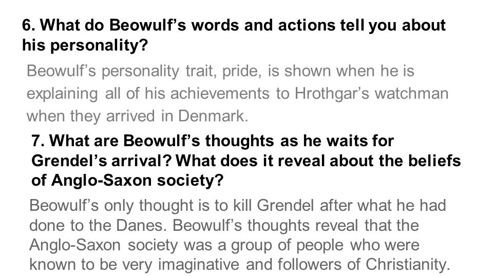 justification of beowulf s actions Civilized rage in beowulf argues that there is a difference between  to  understanding the actions and reactions of the primary characters in the epic,  and  in a battle will often lack the communication to perceive the rationale of  the other.
