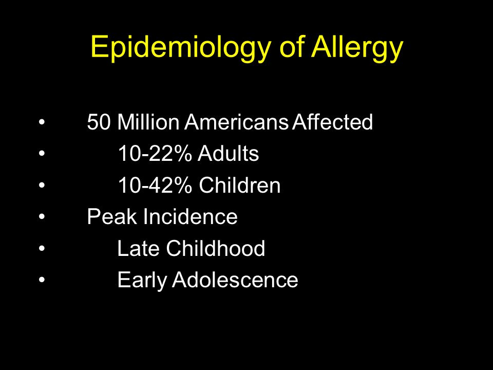 Epidemiology of Allergy