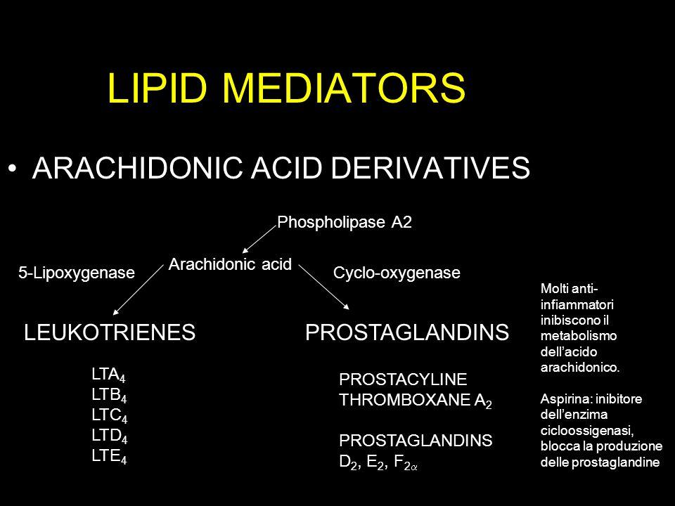 LIPID MEDIATORS ARACHIDONIC ACID DERIVATIVES LEUKOTRIENES