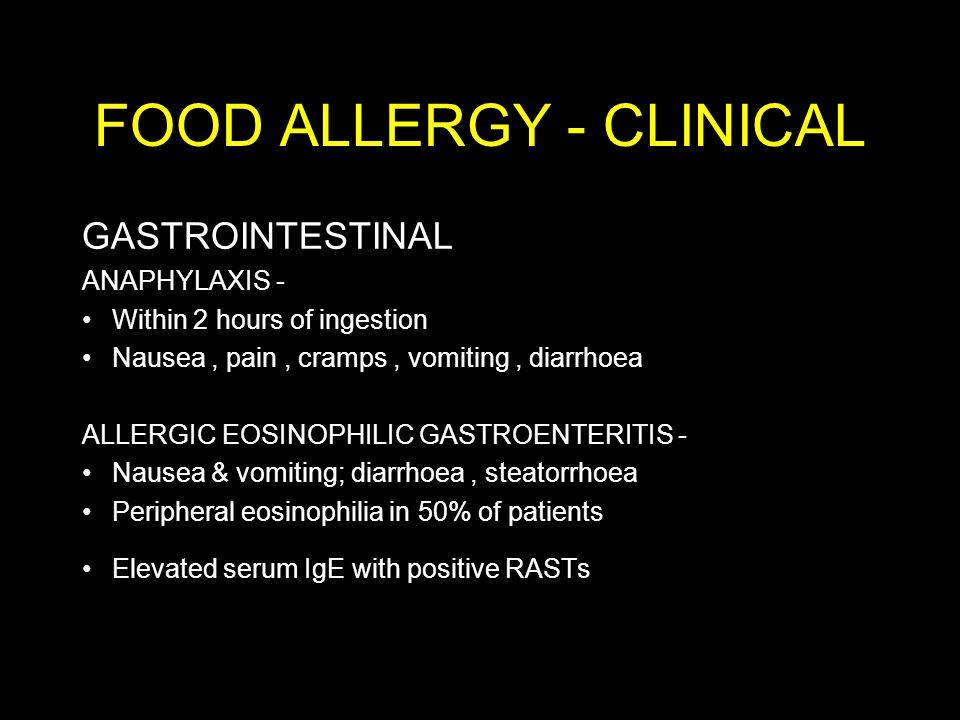 FOOD ALLERGY - CLINICAL