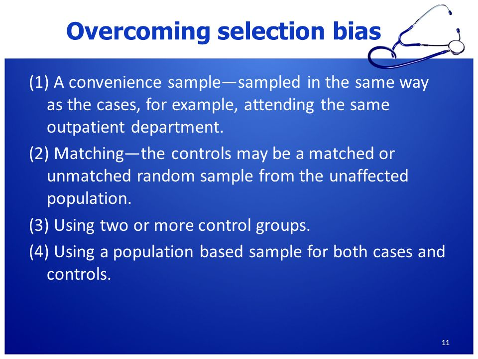 volunteer bias case control study