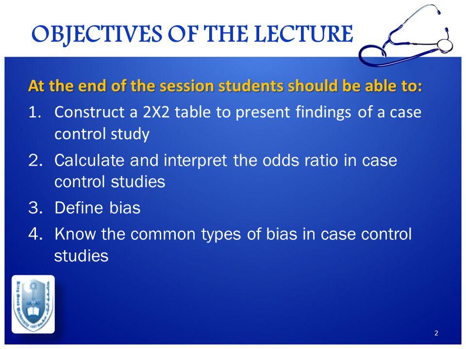 case control study bias