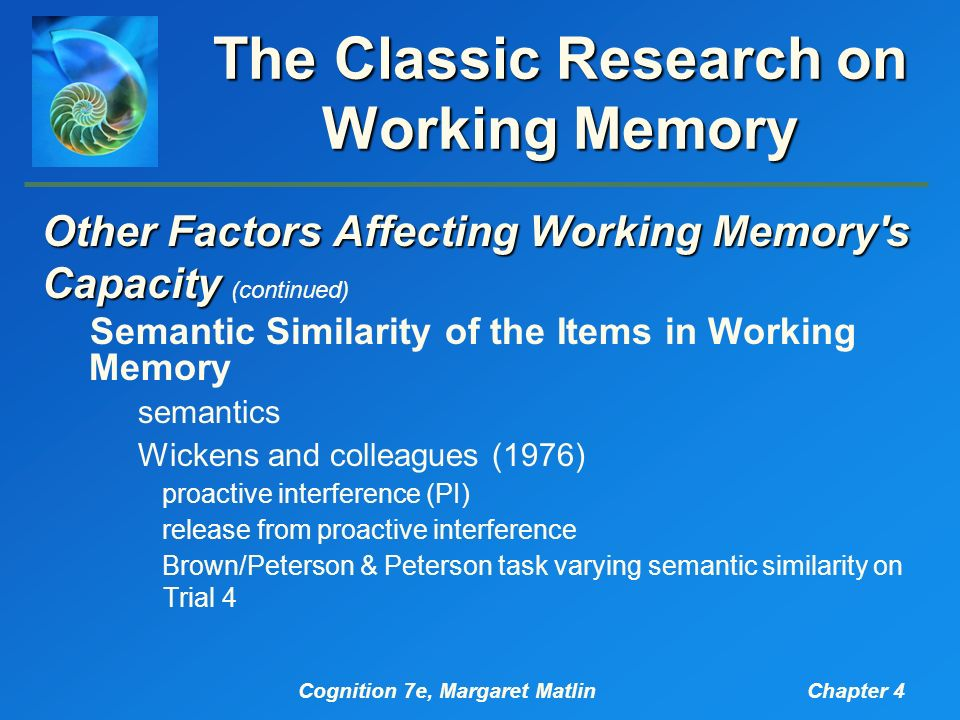 how interference affects working memory Although the effect of working memory (wm) load on the magnitude of distractor interference has been studied extensively, a common characteristic in prior research is that the target and.