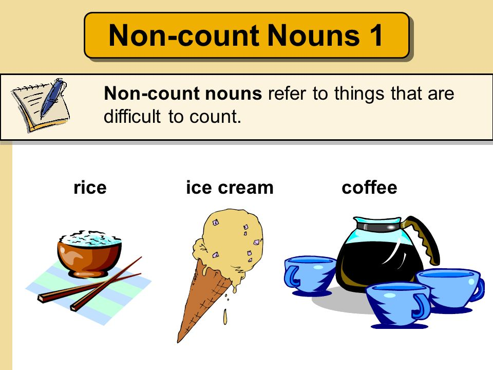 Count and Non-count Nouns; Some and Any - ppt download