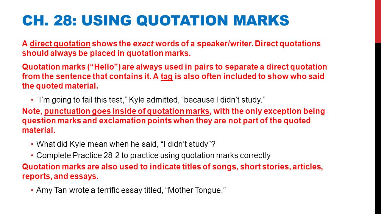 notes on punctuation essay