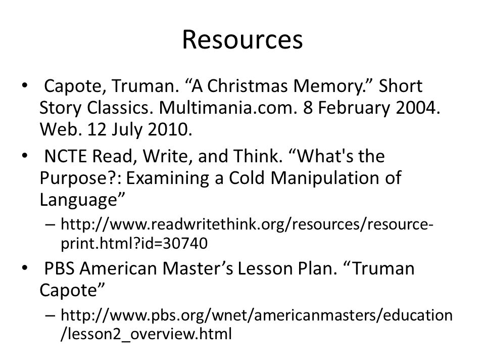 a comprehensive analysis of a christmas memory by truman capote Complex analysis book  the board of university studies of a christmas memory, one christmas, & the thanksgiving visitor by truman capote.
