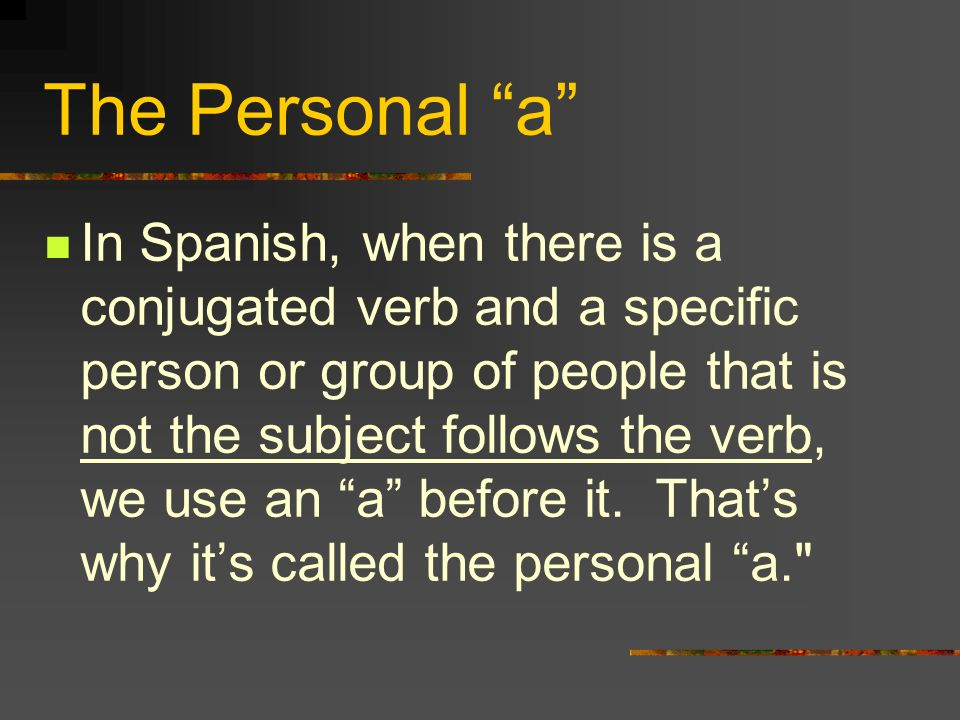 The Personal a