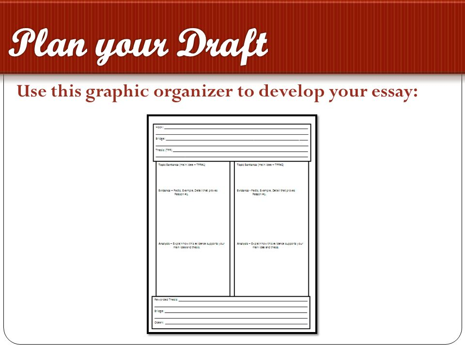 plan draft essay Why instructors use in-class essays and what you can do to keep  planning,  writing, and reviewing more on  draft: draft the essay with special attention to  the.