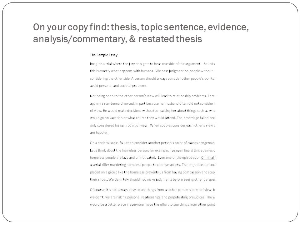 Commentary analysis essay