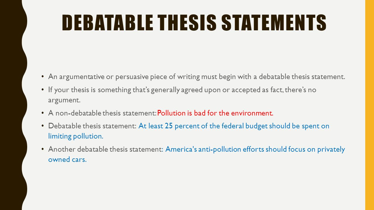 not belonging thesis statements