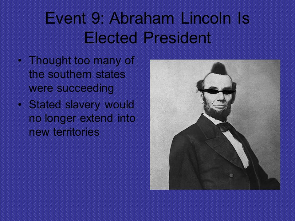 evolution on lincolns thoughts on slavery Lincoln's rival was stephen a douglas, a man that was the complete opposite from abraham lincoln douglas supported slavery and ran against lincoln during the 1800's lincoln was a republican while douglas was a democrat, (50 kresnsky), surprisingly, lincoln won and the road to victory was coming to a start.
