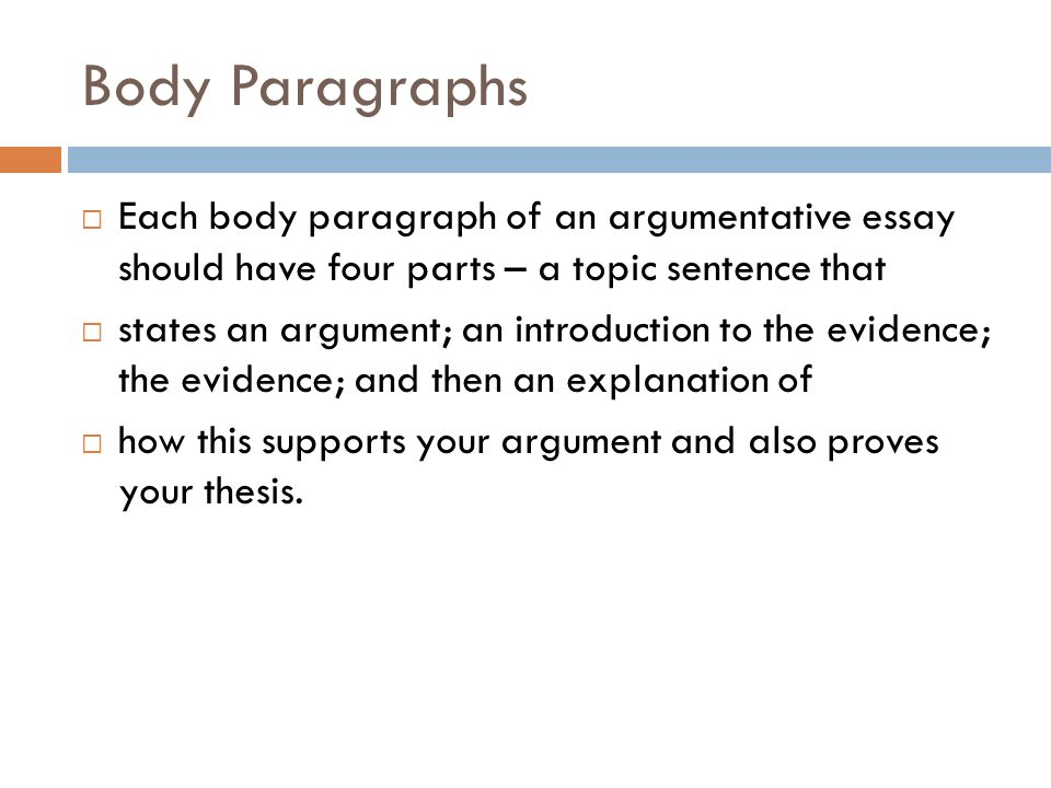 four main parts of an essay