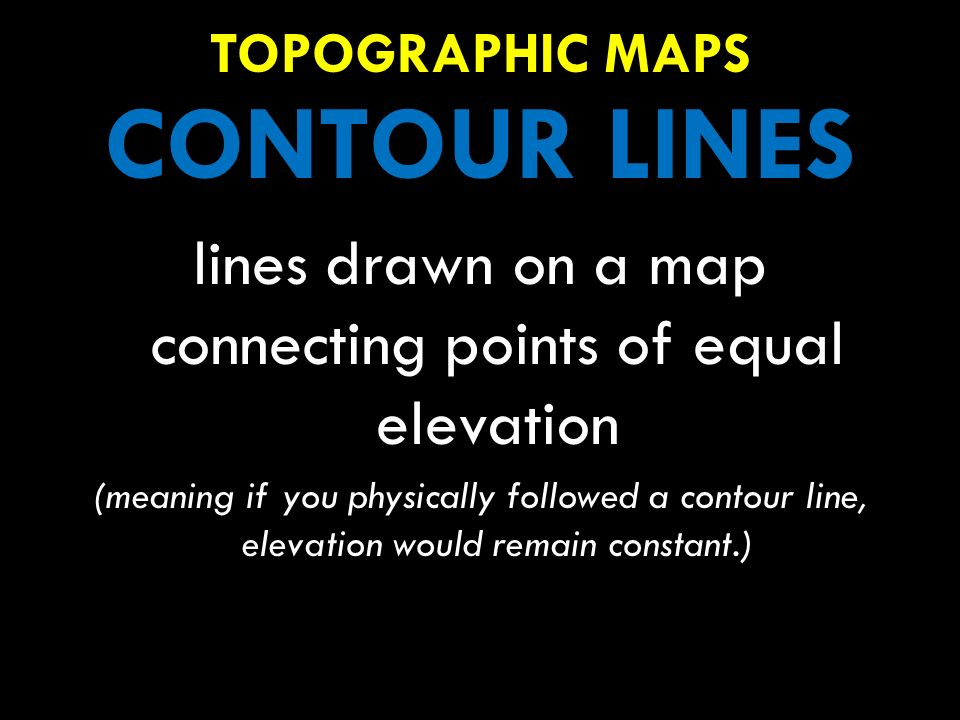 Lines Drawn On A Map Connecting Points Of Equal Elevation