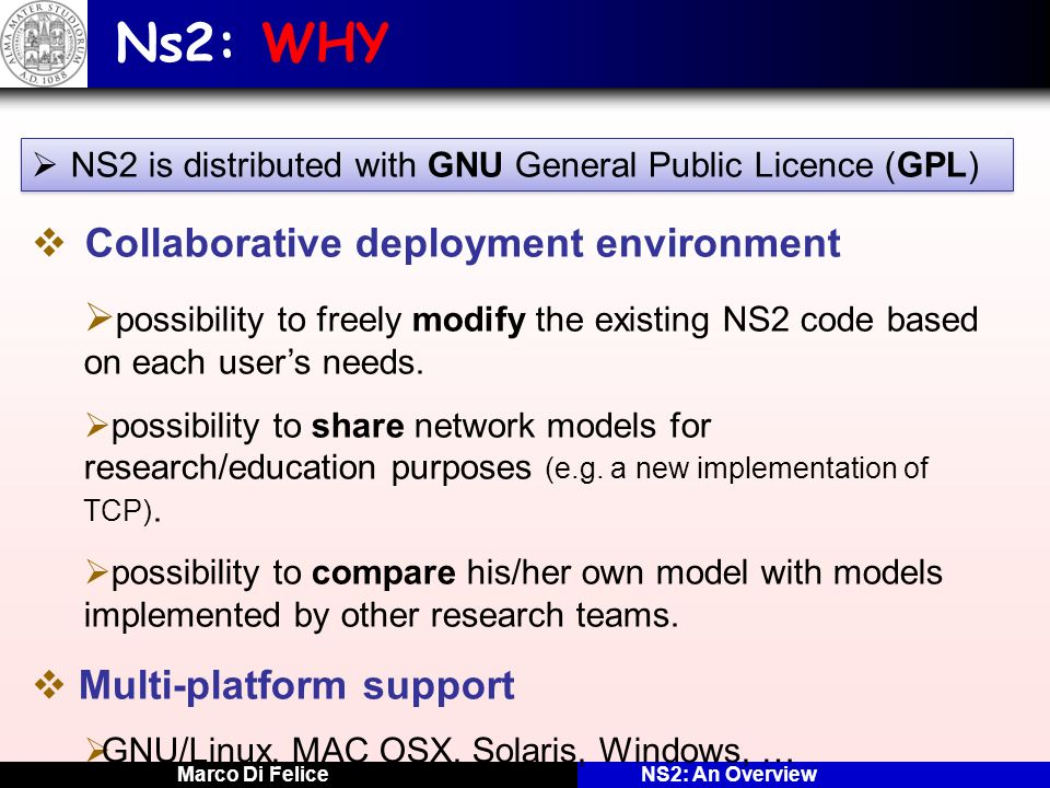 Ns2: WHY Collaborative deployment environment