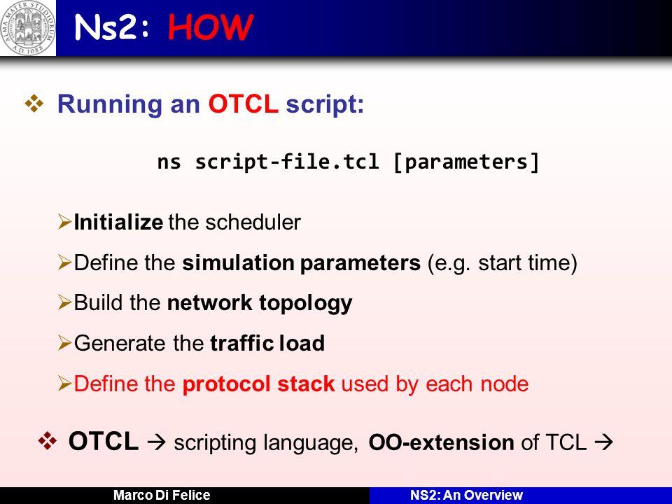 Ns2: HOW Running an OTCL script: