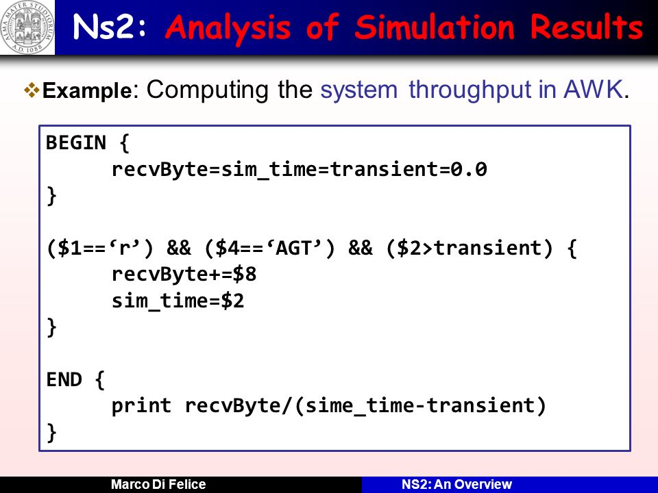 Ns2: Analysis of Simulation Results