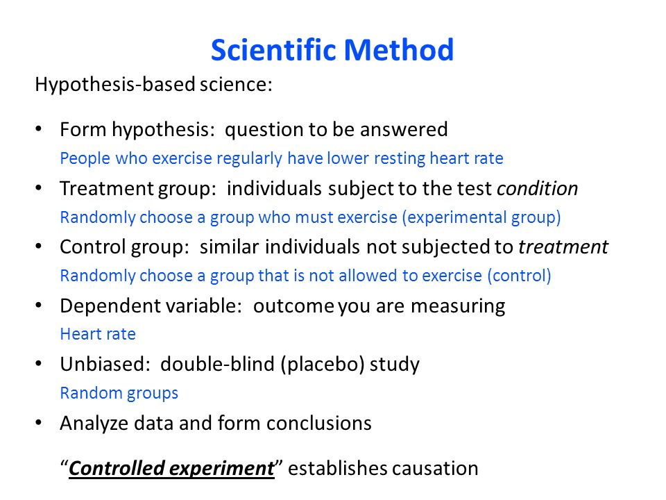 criteria for hypothesis based scientific study A scientific hypothesis must be and clinical case studies on the part of the you might say, can't scientific hypotheses be phrased so that they could be.