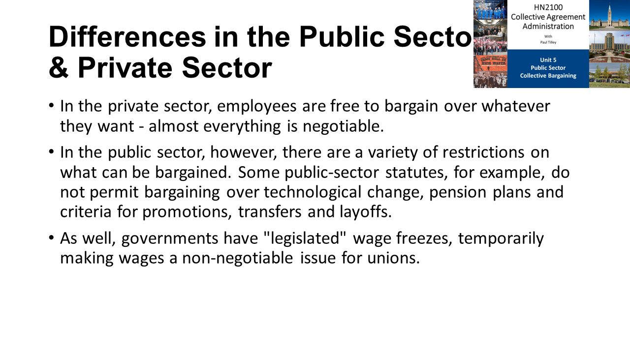 differences between public and private sector industrial relation The expansion of public sector into industrial enterprises has been into practice for quite some time, a little over half a century now the public sector organizations in order to function efficiently are borrowing heavily from the business knowledge, administration and process orientation of the private organizations.