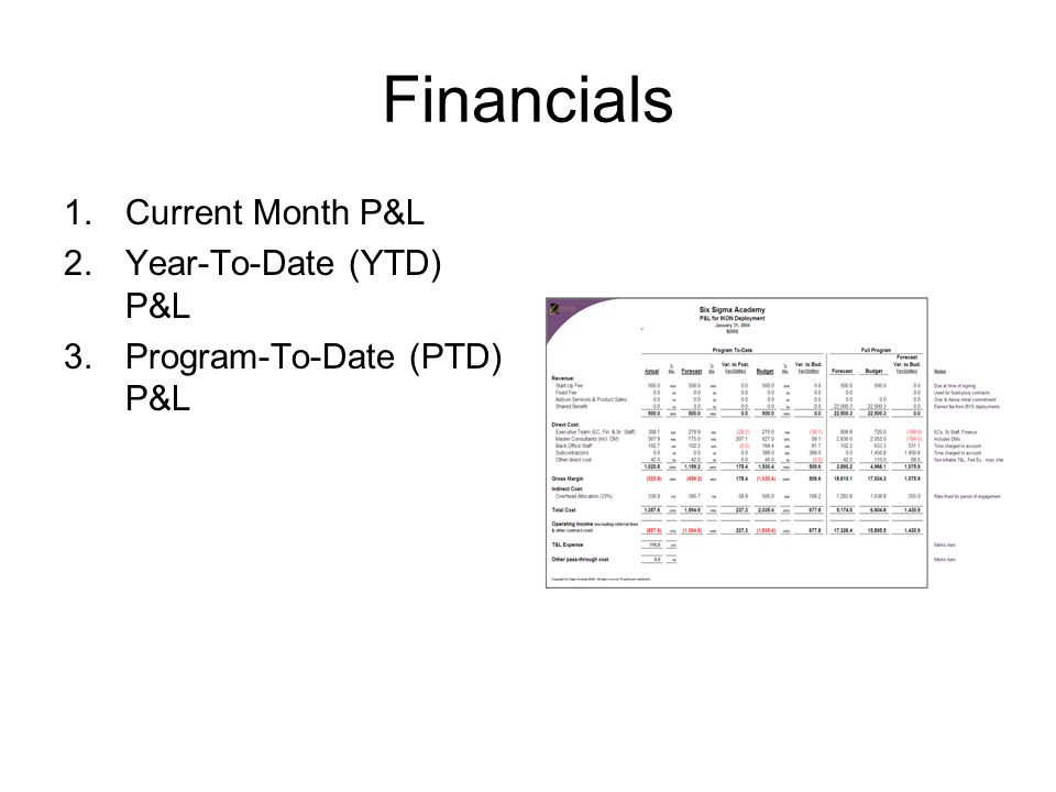 ytd p l statement template