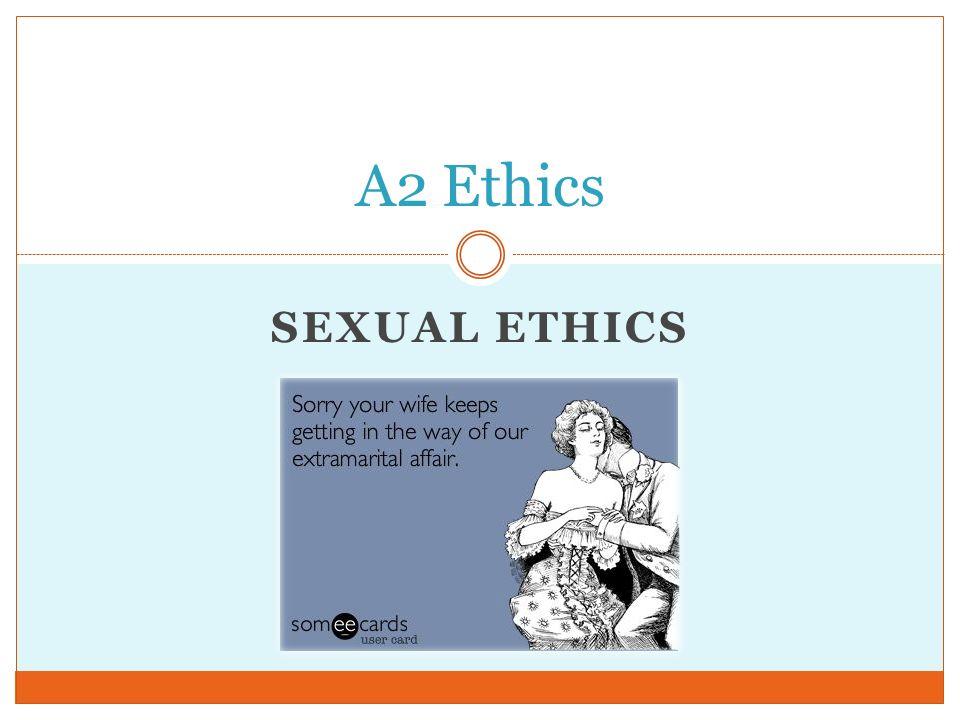Ethics Sex 111